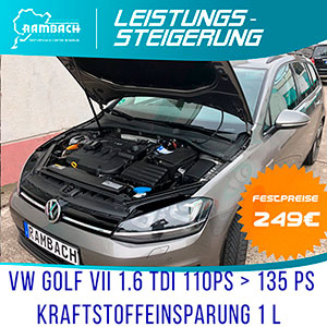 Rambach chiptuning for Volkswagen Golf VII, 1,6, BlueTDI, DSG